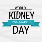 Ημέρα παγκόσμιων νεφρών Στοκ Εικόνα
