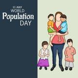 Ημέρα παγκόσμιων πληθυσμών Στοκ εικόνα με δικαίωμα ελεύθερης χρήσης