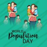 Ημέρα παγκόσμιων πληθυσμών Στοκ φωτογραφίες με δικαίωμα ελεύθερης χρήσης