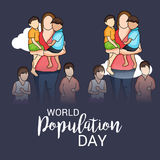 Ημέρα παγκόσμιων πληθυσμών Στοκ Φωτογραφίες