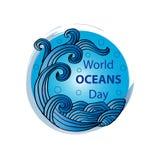 Ημέρα παγκόσμιων ωκεανών απεικόνιση αποθεμάτων