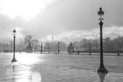 ημέρα Παρίσι βροχερό Στοκ Φωτογραφία