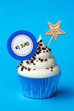 Ημέρα πατέρα cupcake Στοκ εικόνα με δικαίωμα ελεύθερης χρήσης