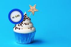 Ημέρα πατέρα cupcake Στοκ Εικόνα