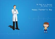 Ημέρα πατέρων - γιατρός Στοκ Εικόνες