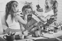 Ημέρα πατέρων και οικογενειακή έννοια Στοκ Εικόνες