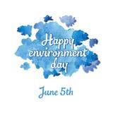 Ημέρα περιβάλλοντος LWorld - που σε ένα υπόβαθρο ενός σύννεφου Στοκ Φωτογραφίες
