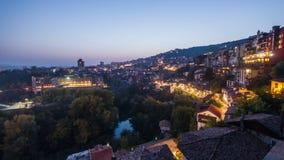 Ημέρα πόλεων στη νύχτα timelapse απόθεμα βίντεο