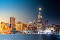 Ημέρα πόλεων της Νέας Υόρκης στη νύχτα timelapse Στοκ Εικόνα