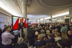 Ημέρα σημαιών της Δημοκρατίας της Πολωνίας στο Sejm της Δημοκρατίας της Πολωνίας, Στοκ Φωτογραφίες