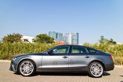 Ημέρα τεστ δοκιμής Audi A5 2015 Στοκ φωτογραφίες με δικαίωμα ελεύθερης χρήσης