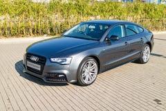 Ημέρα τεστ δοκιμής Audi A5 2015 Στοκ Εικόνες