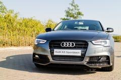 Ημέρα τεστ δοκιμής Audi A5 2015 Στοκ Φωτογραφίες