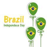 Ημέρα της ανεξαρτησίας της Βραζιλίας σημαία της Βραζιλίας Στοκ φωτογραφία με δικαίωμα ελεύθερης χρήσης