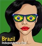 Ημέρα της ανεξαρτησίας της Βραζιλίας Σημαία της Βραζιλίας 1 Στοκ Εικόνες