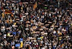 Ημέρα της ανεξαρτησίας δημοκρατιών Catalona Στοκ εικόνα με δικαίωμα ελεύθερης χρήσης