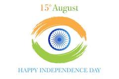 Ημέρα της ανεξαρτησίας της Ινδίας 15η του διανύσματος Αυγούστου απεικόνιση αποθεμάτων