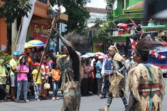 Ημέρα της ανεξαρτησίας καρναβάλι της Ινδονησίας Στοκ εικόνα με δικαίωμα ελεύθερης χρήσης