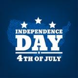 Ημέρα της ανεξαρτησίας σκιαγραφία-01 Στοκ Φωτογραφίες