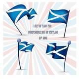 Ημέρα της ανεξαρτησίας της Σκωτίας, ένα σύνολο σημαιών Στοκ φωτογραφία με δικαίωμα ελεύθερης χρήσης