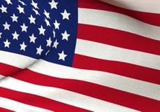Ημέρα της ανεξαρτησίας στις Ηνωμένες Πολιτείες της Αμερικής σημαία ΗΠΑ τρισδιάστατη απόδοση, βίντεο διανυσματική απεικόνιση