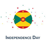 Ημέρα της ανεξαρτησίας της Γρενάδας έμβλημα πατριωτικό επίσης corel σύρετε το διάνυσμα απεικόνισης Στοκ εικόνες με δικαίωμα ελεύθερης χρήσης