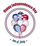 Ημέρα της ανεξαρτησίας της διανυσματικής κάρτας της Αμερικής Στοκ Εικόνες