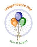 Ημέρα της ανεξαρτησίας του διανυσματικού σχεδίου της Ινδίας Στοκ Εικόνα