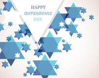 Ημέρα της ανεξαρτησίας του Ισραήλ. Υπόβαθρο αστεριών του Δαβίδ διανυσματική απεικόνιση