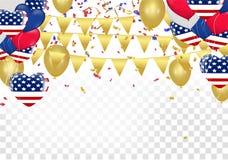 Ημέρα της ανεξαρτησίας του σχεδίου προτύπων εμβλημάτων αμερικανικής πώλησης διανυσματική απεικόνιση