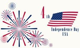 Ημέρα της ανεξαρτησίας των Ηνωμένων Πολιτειών στις 4 Ιουλίου 2019 διανυσματική απεικόνιση
