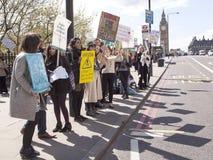 Ημέρα 2 της απεργίας 48 ωρ. από τους κατώτερους γιατρούς Στοκ Εικόνες