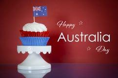 Ημέρα της Αυστραλίας cupcake Στοκ Εικόνες