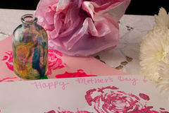 Ημέρα της ευτυχούς μητέρας (άποψη 3) Στοκ Εικόνα