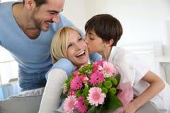 Ημέρα της ευτυχούς μητέρας στοκ φωτογραφίες