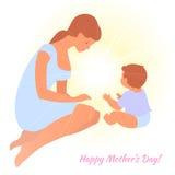 Ημέρα της ευτυχούς μητέρας Στοκ φωτογραφία με δικαίωμα ελεύθερης χρήσης