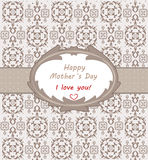 Ημέρα της ευτυχούς μητέρας Στοκ Εικόνες