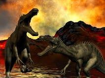 Ημέρα της Κρίσεως δεινοσαύρων διανυσματική απεικόνιση