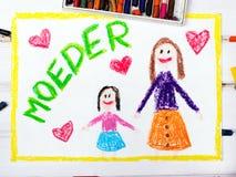Ημέρα της μητέρας Nederlands Στοκ φωτογραφία με δικαίωμα ελεύθερης χρήσης