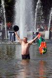 Ημέρα του εορτασμού συνοριακών φυλάκων στη Μόσχα Στοκ Εικόνα