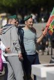 Ημέρα του εορτασμού συνοριακών φυλάκων στη Μόσχα Στοκ Εικόνες