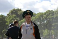 Ημέρα του εορτασμού συνοριακών φυλάκων στη Μόσχα Στοκ Φωτογραφία