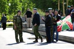 Ημέρα του εορτασμού συνοριακών φυλάκων στη Μόσχα Στοκ φωτογραφία με δικαίωμα ελεύθερης χρήσης