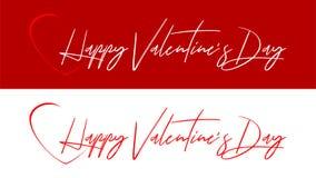 Ημέρα του ευτυχούς βαλεντίνου - επιθυμίες από την καρδιά ελεύθερη απεικόνιση δικαιώματος