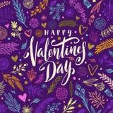 Ημέρα του ευτυχούς βαλεντίνου - ευχετήρια κάρτα απεικόνιση αποθεμάτων