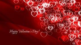 Ημέρα του ευτυχούς βαλεντίνου! Πολλές κόκκινες μικρές καρδιές διανυσματική απεικόνιση