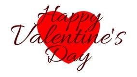 Ημέρα του ευτυχούς βαλεντίνου - σκοτεινές λέξεις στο υπόβαθρο της καρδιάς ελεύθερη απεικόνιση δικαιώματος