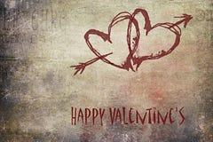 Ημέρα του ευτυχούς βαλεντίνου, grunge και ρομαντικός στοκ εικόνα με δικαίωμα ελεύθερης χρήσης