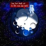 Ημέρα του ευτυχούς βαλεντίνου από το φεγγάρι Στοκ Εικόνα