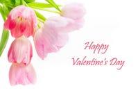 Ημέρα του ευτυχούς βαλεντίνου, ευχετήρια κάρτα Στοκ Εικόνα